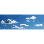 Low Poly Blue Sky 8
