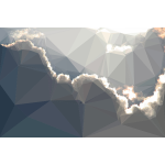 Low Poly Brilliant Backlit Clouds