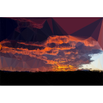 Low Poly Burnt Caramel Sunset