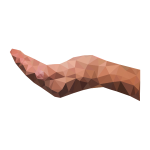 Low Poly Cupping Hand Horizontal