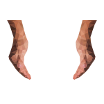 Low Poly Cupping Hands