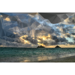 Low Poly Distant Beach Sunrise