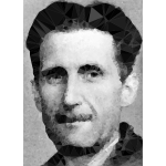 Low Poly George Orwell