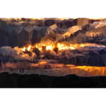Low Poly Golden Cumulus Sunset