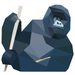 Low poly gorilla