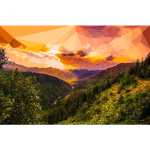 Low Poly Montana Sunset