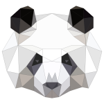 Low Poly Panda Head With Strokes