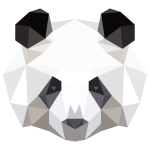 Low Poly Panda Head