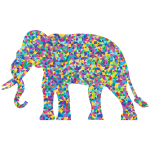 Low Poly Prismatic Elephant Silhouette