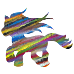 Low Poly Prismatic Streaked Fantasy Pony