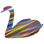 Low Poly Prismatic Streaked Swan