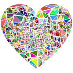 Low Poly Shattered Heart