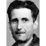Low Poly Spiky George Orwell