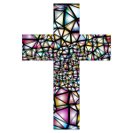 Low Poly Stained Glass Cross 2