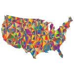 Low Poly United States Map