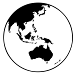 earth globe (oceania)