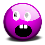 Vector graphics of purple smiley 2