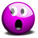 Vector graphics of purple OMG smiley