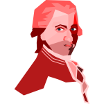 Portrait of Mozart vector drawing