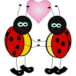 Lady bugs in love