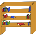 Bookcase vector graphics