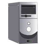 Computer system case vector image