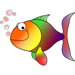 Happy fish vector illustration