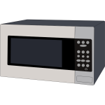 Microwave oven vector graphics