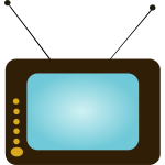 Vector graphics of TV set