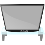 Modern TV vector image