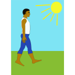 Walking in nature vector