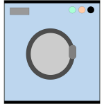 Laundry machine vector icon