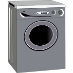 Washing machine vector drawing
