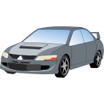 Vector graphics of a car