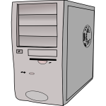 PC case vector clip art