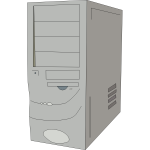 PC case tower clip art