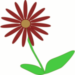 Red daisy vector illustration