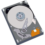 Hard disk vector illustration