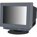 Monitor CRT vector clip art