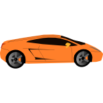 Luxury sports car vector graphics