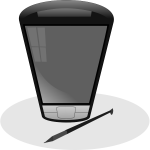 Pocket PC vector clip art