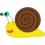 Vector image of a snail