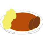 Vector image of meal