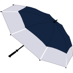 Blue and grey umbrella vector image