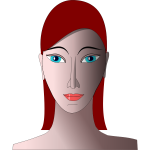 Woman portrait vector graphics