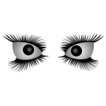 Vector image of mad eyes