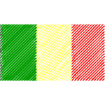 Mali flag scribble effect