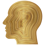 Man Head Gold Texture