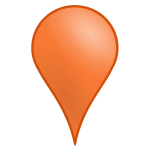 3D map location icon vector image