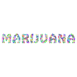 Marijuana Typography Prismatic